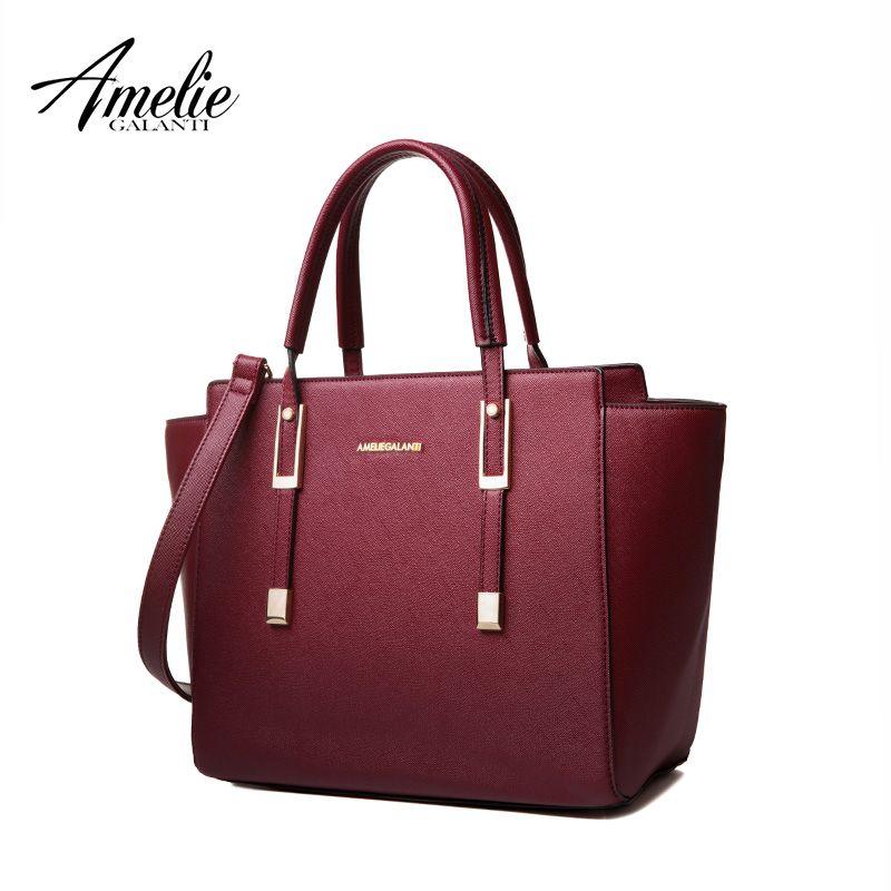 AMELIE GALANTI Fashion  Women hsndbags High Quaility PU Messenger Casual trapeze Solid Famous Brands Versatile Zipper Color 2017