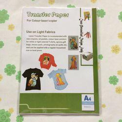 (20 pièces/lot) Pas besoin de couper image A4 taille couleur de la lumière laser t-shirt/vêtements de transfert de chaleur papier