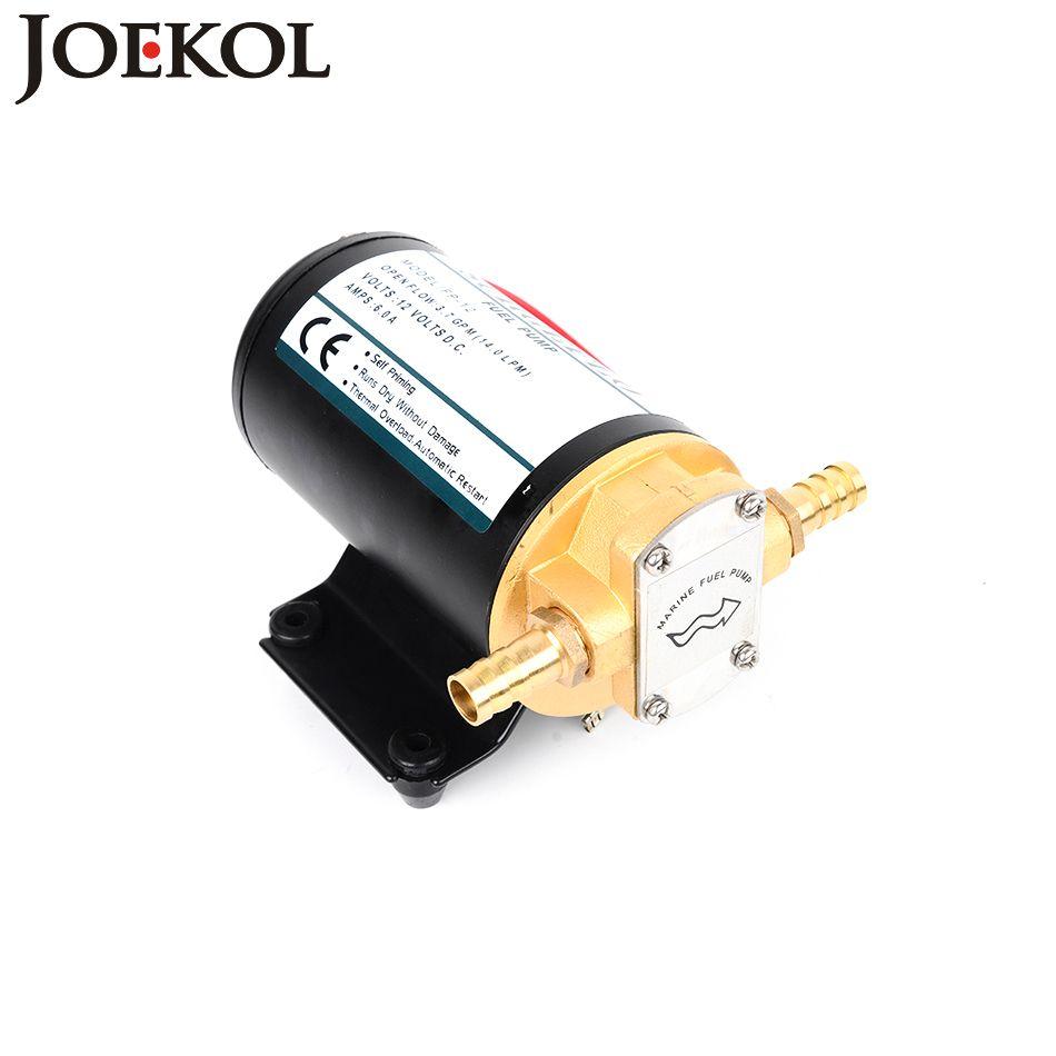 FP-12 dc 12V/24V fuel transfer pump Horizontal Total Copper Material Gear Pump Diaphragm Pump