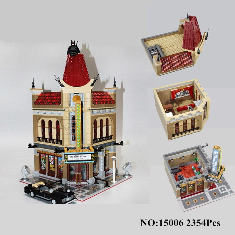 H&HXY IN STOCK 15006 2354pcs Palace Cinema Model Building Blocks set Bricks LEPIN DIY Toys Compatible with 10232 Children Gift