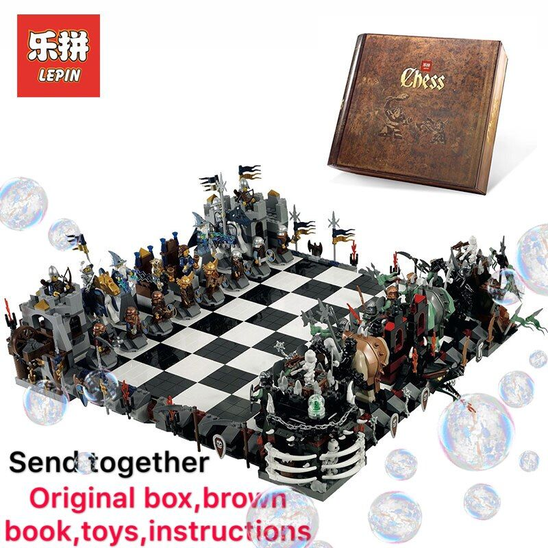 Lepin 16019 Creative movies series 2475Pcs Castle LegoINGly 852293 Giant Chess Educational toys for Children Christmas gifts