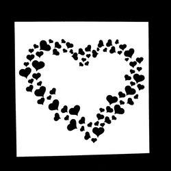 1 PC Grand Petit Amour En Forme de Coeur Réutilisable Pochoir Airbrush Peinture Art DIY Décoration scrapbooking Album Artisanat