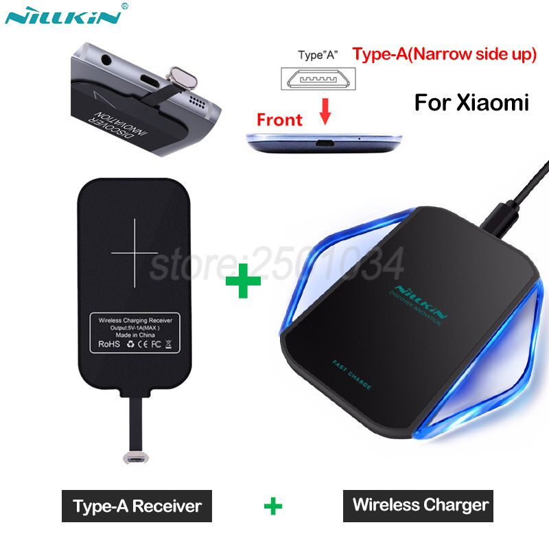 Nillkin Qi Wireless Charging for Xiaomi Redmi 4X /Note 4X /5A /5 /5 Plus Wireless Charger Pad + Type-A Receiver for Xiaomi Redmi