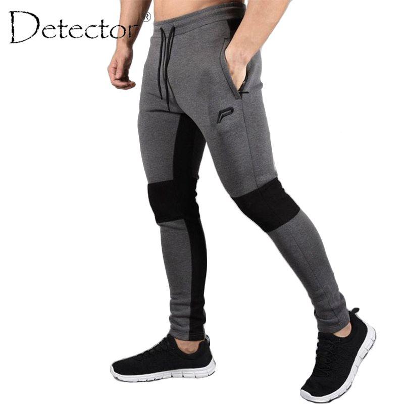 Detector Mens Running Fitness Pants Sportwear Elastic Drawstring Trousers Men Autumn Winter Outdoor Sport Clothing