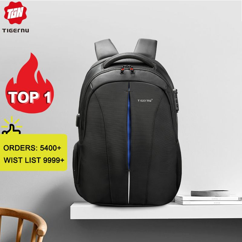 Tigernu Waterproof 15.6inch Laptop Backpack NO Key TSA Anti Theft Men Backpacks Travel Teenage Backpack bag male bagpack mochila
