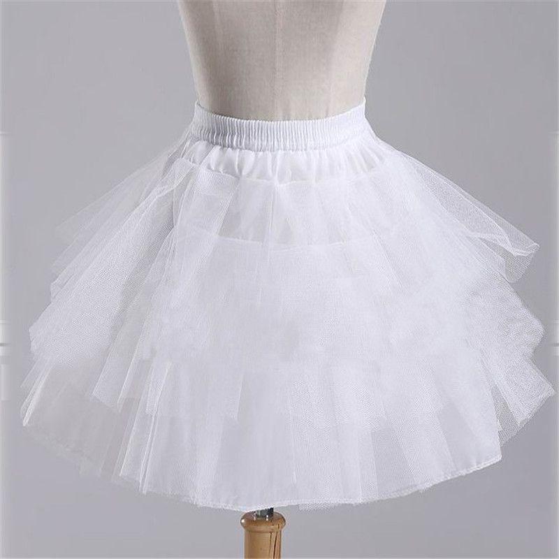 2017 Nuevo Stock Blanco Negro Ballet petticoat Accesorios de Boda Corto Crinolina Enagua Nupcial Señora Girls Underskirt