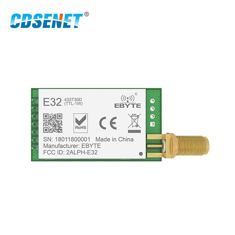 SX1278 LoRa 433MHz 30dBm 1W Serial Port Transceiver E32-433T30D SMA Long Range 433 MHz rf Transmitter and Receiver