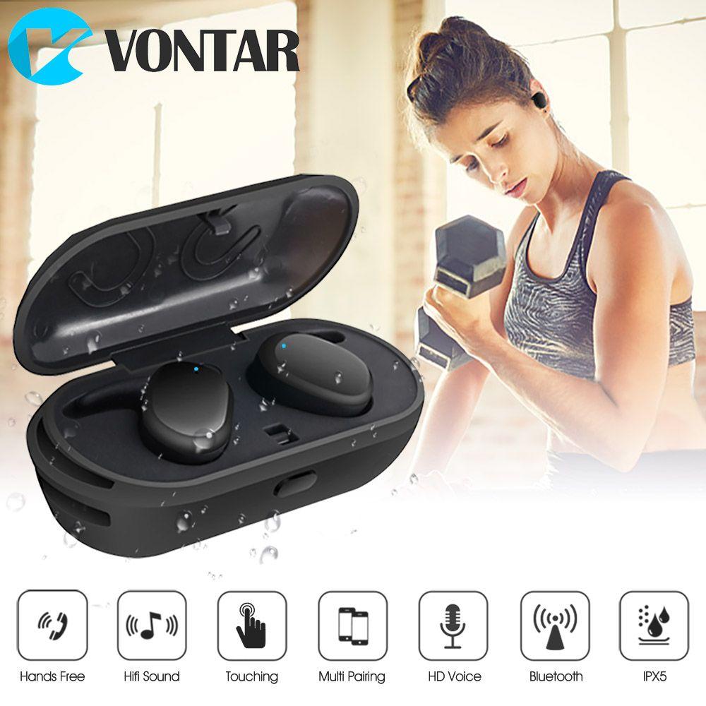 Date Mini Sans Fil In-Ear Vrai JUMEAUX Sans Fil Écouteurs Bluetooth portable casque avec boîte de charge mains libres Tactile contrôle