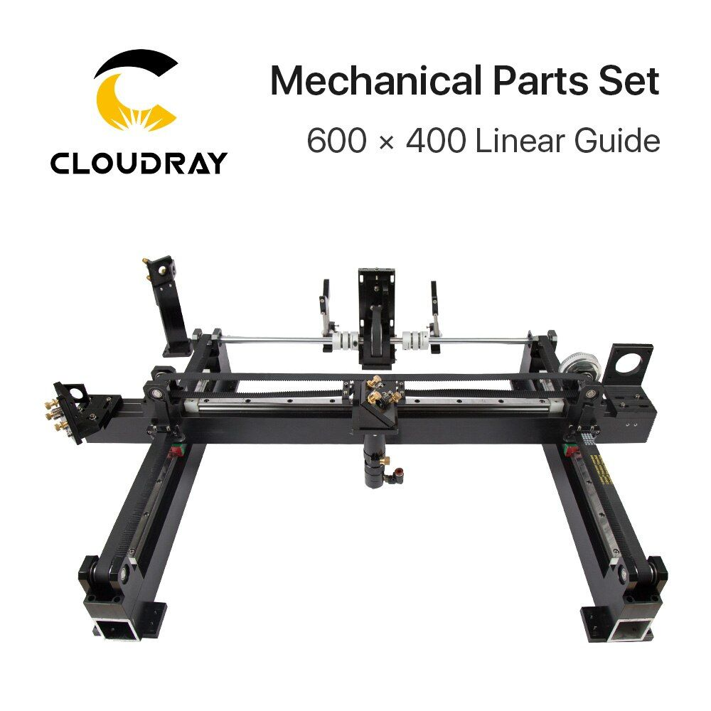 Mechanische Teile Set 600mm * 400mm Einzigen Kopf Laser Kits Ersatzteile für DIY CO2 Laser 6040 CO2 laser Gravur Schneiden Maschine