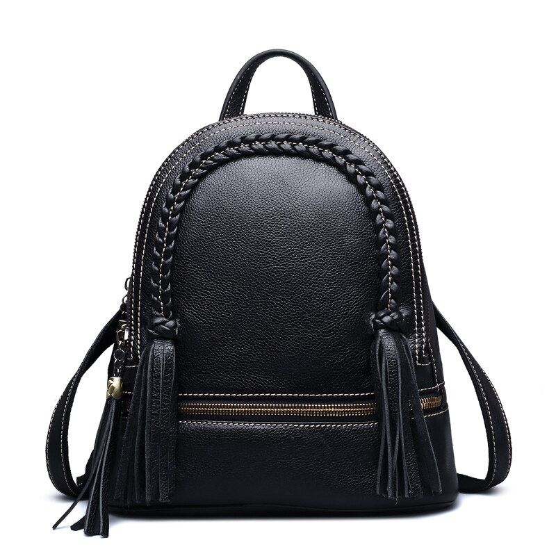 Qisu/выгодное предложение Для женщин из коровьей кожи рюкзак Вязать школьная сумка