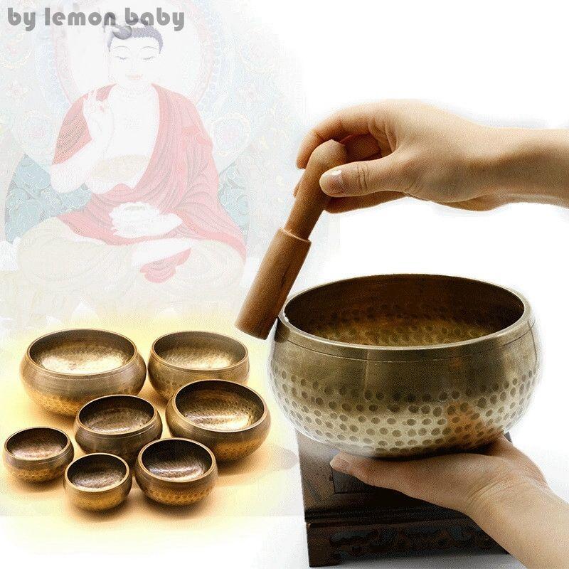 1 компл. Медь Будда звук чаша милостыню чаша Йога Китайский тибетского медитации Поющая чаша с рук палку Изделия из металла gpd8121