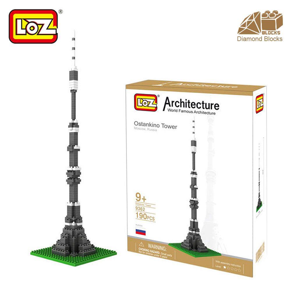 Mr. Froger LOZ Ostankino tour diamant bloc mondialement célèbre Architecture série jouet briques blocs de construction classique jouet ville Cube