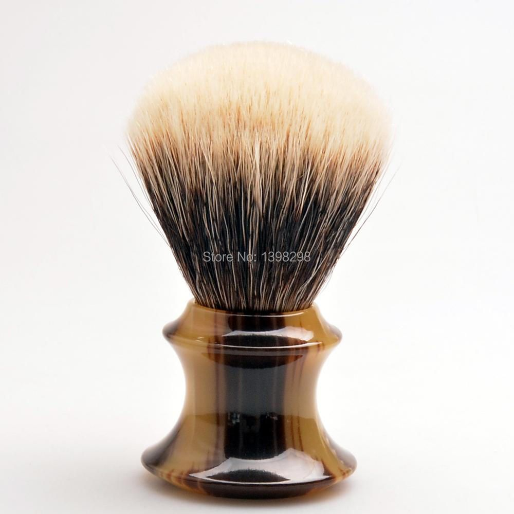 CSB HMW Two Band Badger Hair Shaving Brush with Faux Horn Handle Beard Brush