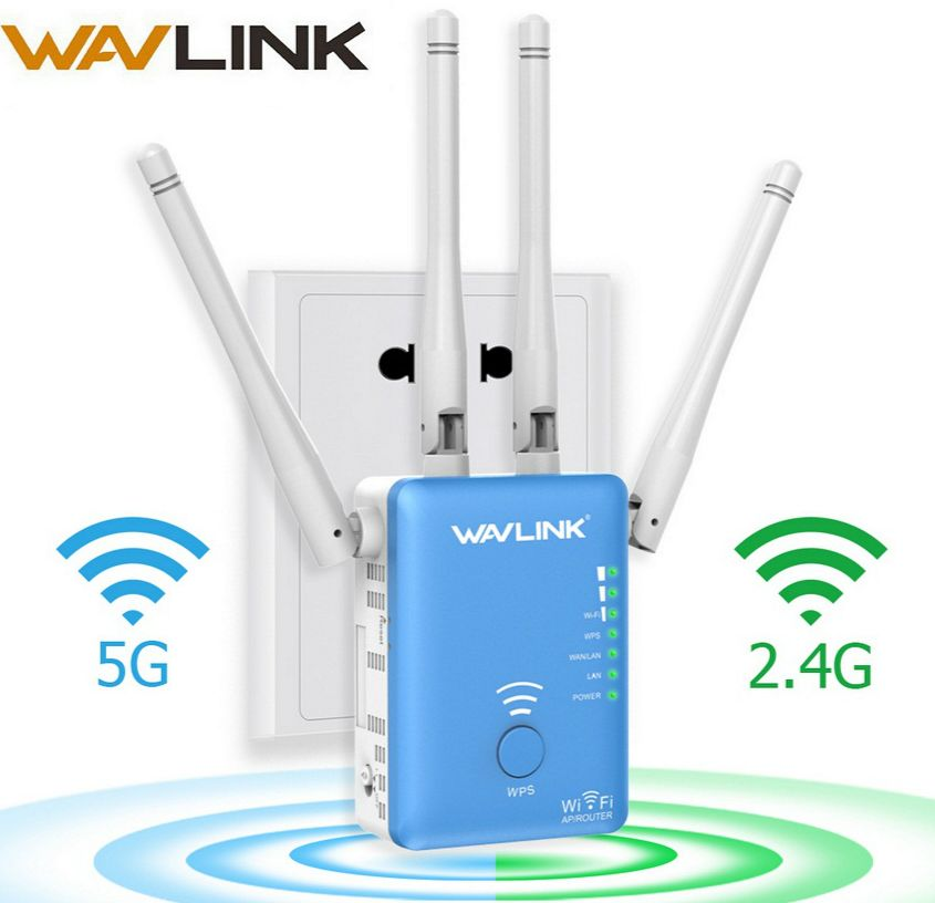 Wavlink Drahtlose Wifi Repeater/Router 1200 mbps 2,4G & 5G Dual Band Wifi Signalverstärker AP Signal Booster Network Range Extender