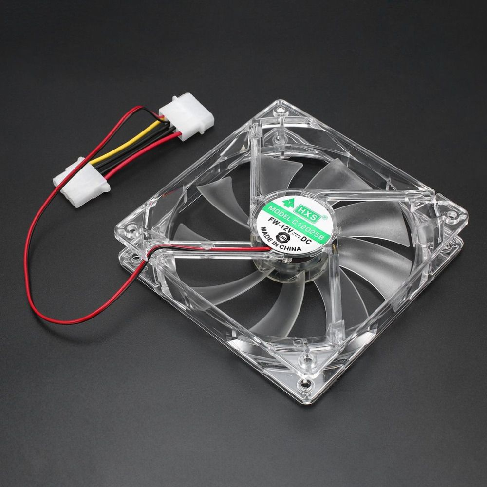 PC Computer Fan Quad 4 LED Light 120mm PC Computer Case 12V Cooling Fan Mod Quiet Molex Connector Easy Installed Fan Colorful