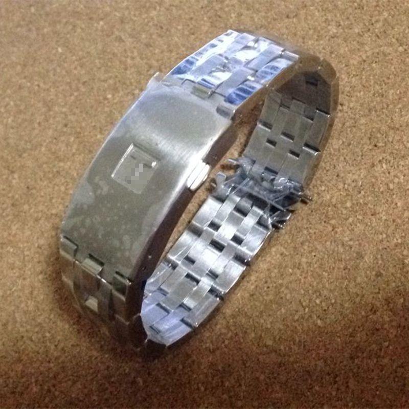 Haute qualité 19mm 20mm PRC200 T17 T461 T014430 T014410 bracelet de montre pièces hommes bande solide en acier inoxydable bracelets