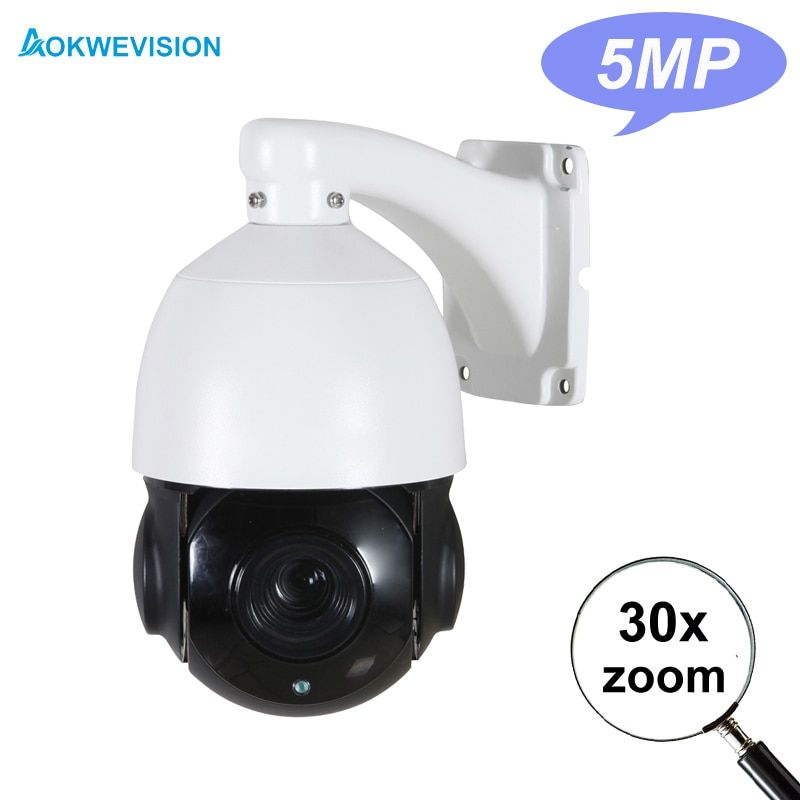 4 inch Mini Size 5MP 4MP outdoor Onvif Network H.265 H.264 IP PTZ camera speed dome 30X zoom ptz ip camera 60m IR nightvision