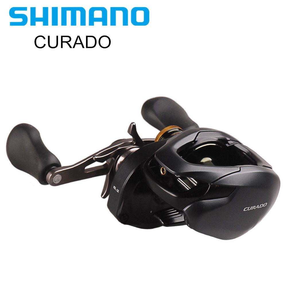 Original SHIMANO CURADO K Low Profile Bait Casting Fishing Reel 200/201 200HG/201HG 6+1BB Hagane Body Round Coil Moulinet Peche