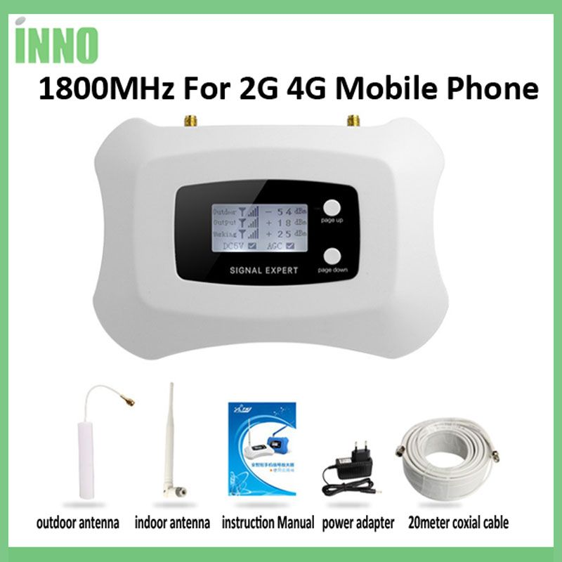 LCD display Globale Frequenz 2G 4G LTE DCS 1800 mhz mobile signal repeater/booster verstärker für 2G 4G kit