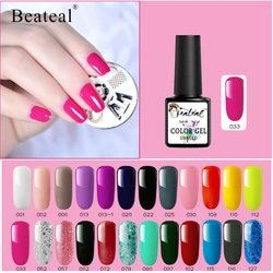 Beateal 8ML Organic Color Nail Gel Varnish Soak Off Hybrid Gel Polish UV LED Base TopCoat Long Lasting Nail Art Decorations