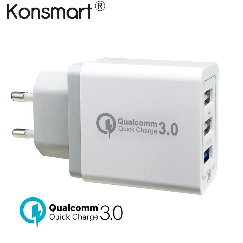 Charge rapide QC 3.0 USB Rapide Chargeur pour iPhone X XS 6 6 s 7 8 plus iPad Samsung Xiaomi universal UE US Plug Rapide Puissance Adaptateur