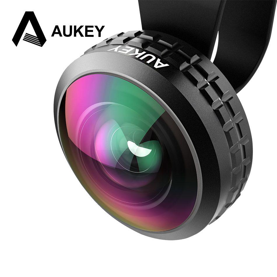 AUKEY D'origine 0.2X Super Grand Angle Optique Pro Lentille 238 degré Haute Clarté Cellulaire Téléphone Camera Lens Kit pour iPhone, Xiaomi Lentille