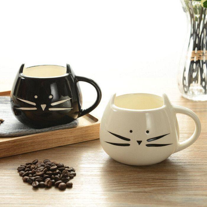400 ml mignon chat Animal café lait tasse créative en céramique tasses porcelaine thé tasses petit déjeuner boisson nouveauté beaux cadeaux