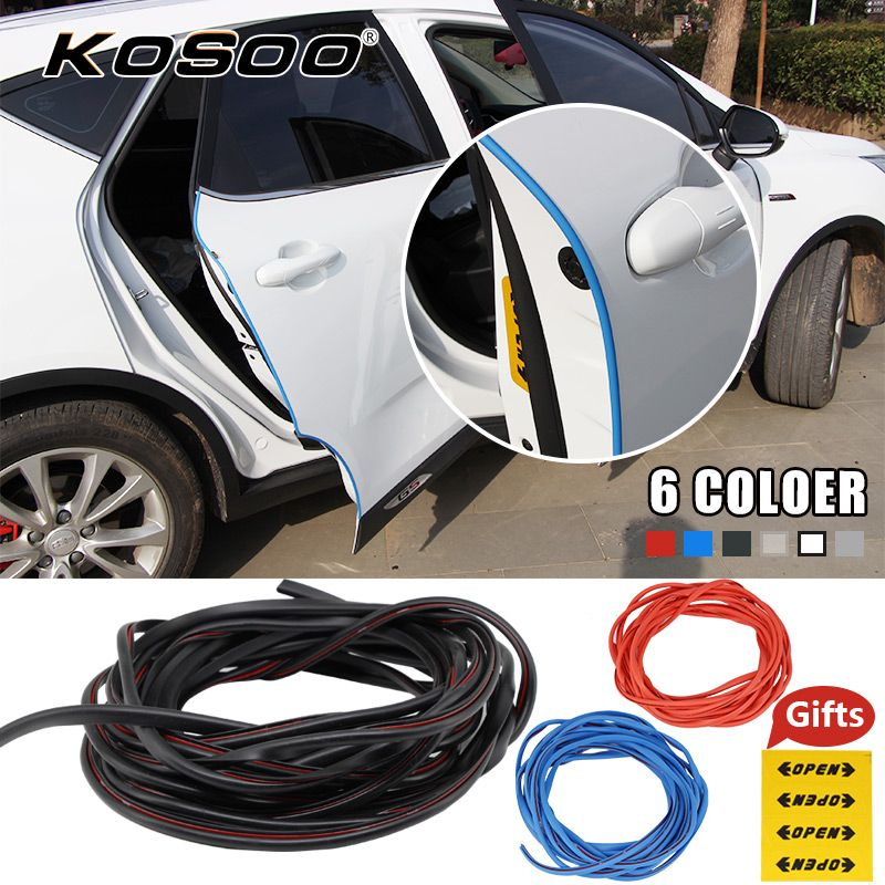KOSOO Car sticker Door Edge Scratch Crash Strip Protection Sticker Doors Moldings Side Scratches Protector Auto Cars styling
