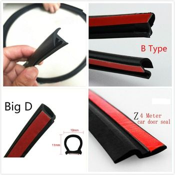 Small D/Big D/Z Type/P type/B type Dashboard Car Seal Strip Sound Insulation Adhesive Waterproof Auto Door Rubber Sealing Strip