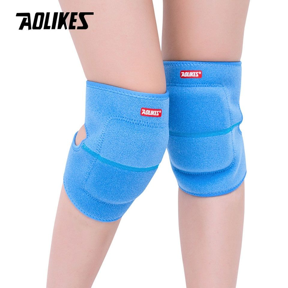 AOLIKES 1 Pair Adult Dance Volleyball Tennis Knee Pads Safety Knee Support Sport Gym Kneepads Knee Protection