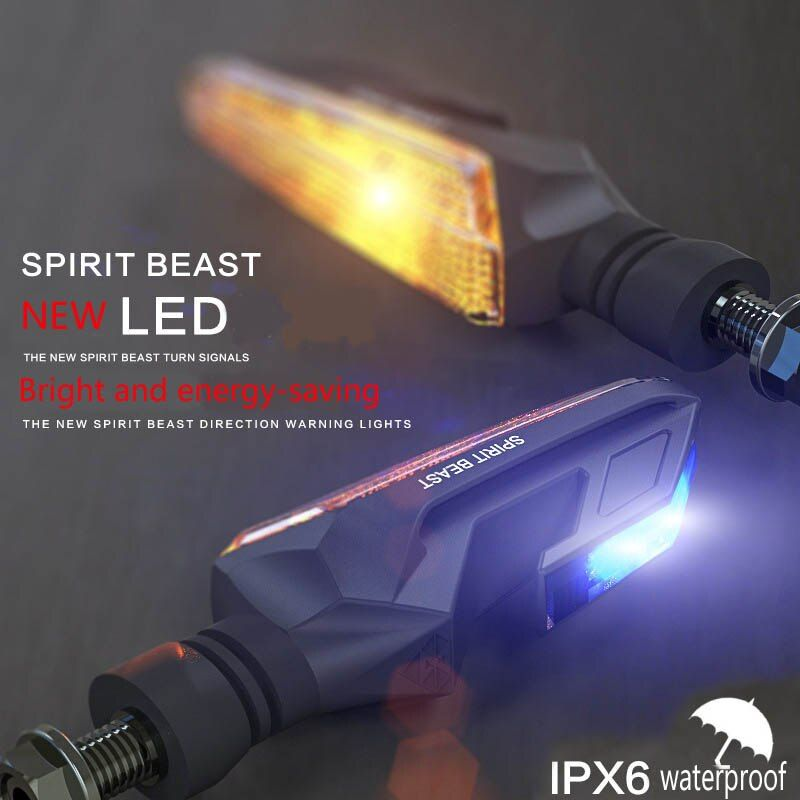 2pcs Motorcycle Motorbike LED Turn Signal Indicator Amber Light Bendable UNBreak Lamps
