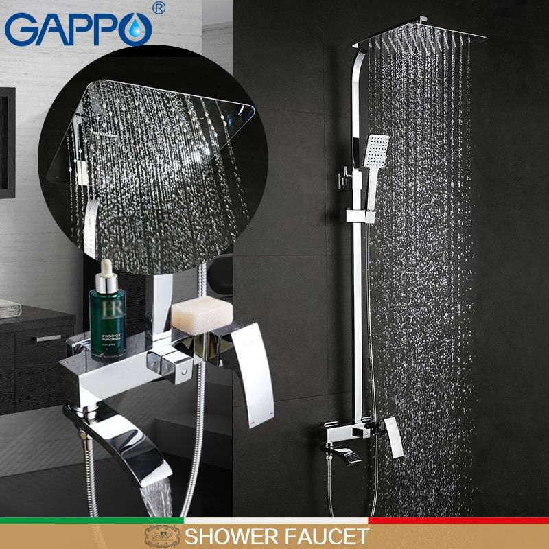 GAPPO bathroom white shower faucet shower mixer taps Rainfall Bathtub faucet shower head bath shower set bathroom faucet mixer