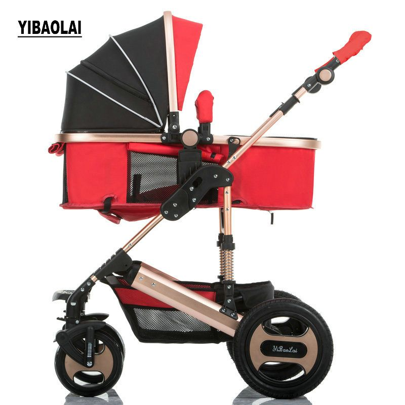 YIBAOLAI High landscape strollers can sit reclining folding portable newborn trolley shock light trolley 2 in 1 Baby stroller