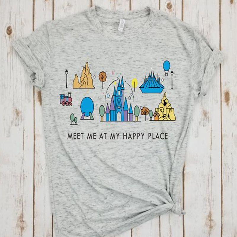 T-shirt dessin animé endroit heureux chemise animal royaume t-shirt grande taille impression t-shirts dessin animé filles hauts été 2019 haut tendance harajuku