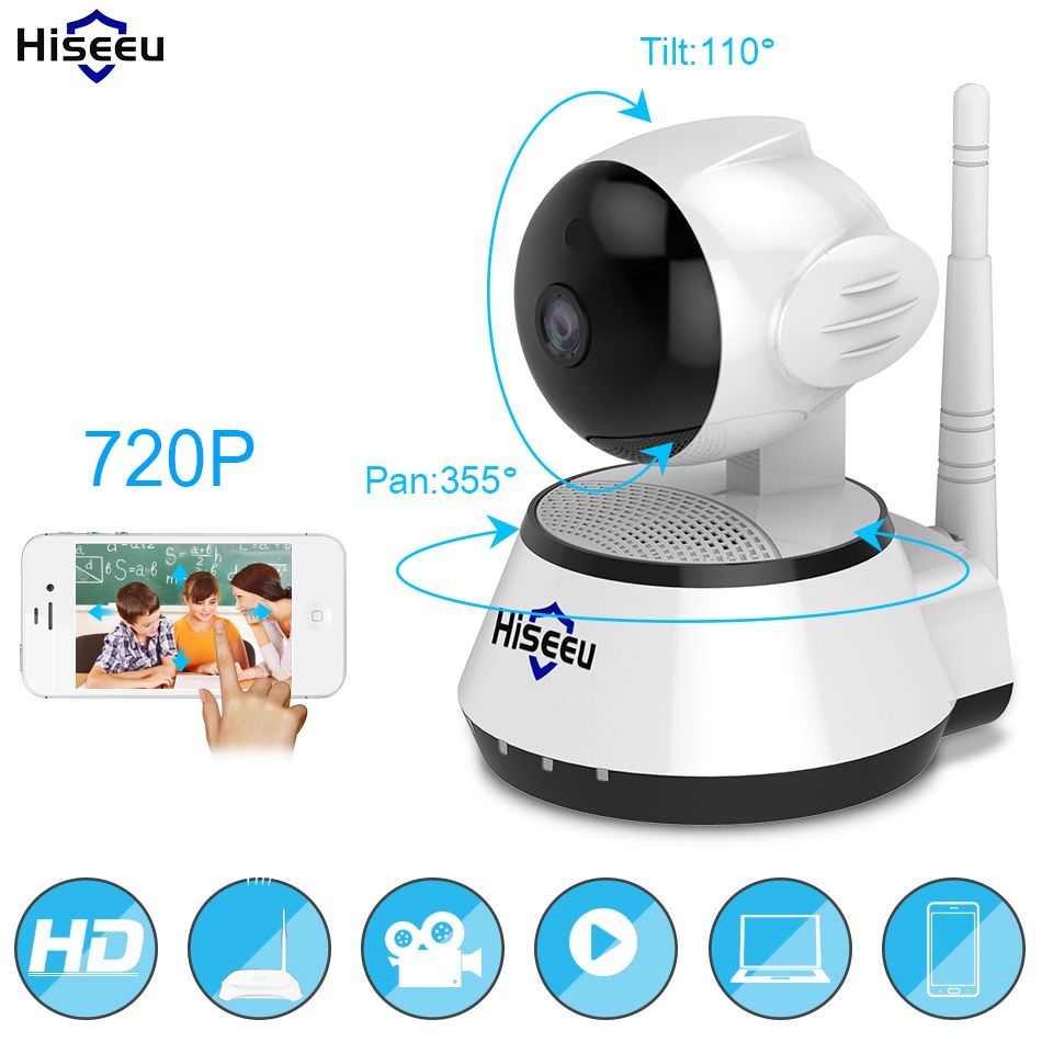 Home Security IP Camera <font><b>Wireless</b></font> Smart WiFi Camera WI-FI Audio Record Surveillance Baby Monitor HD Mini CCTV Camera Hiseeu FH2A