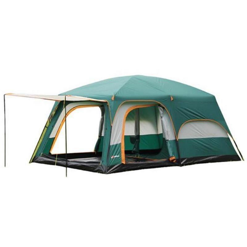 Große Familie Party Camping Zelt 6/8/10/12 Person Doppel Schicht 2 Wohnzimmer 1 Halle 4 saison Zelte Outdoor Camping Tourismus Zelt