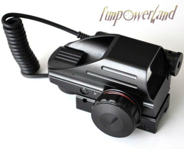 Funpowerland Электро Зеленый и красный в горошек комбо с переключателем давления лазерный прицел
