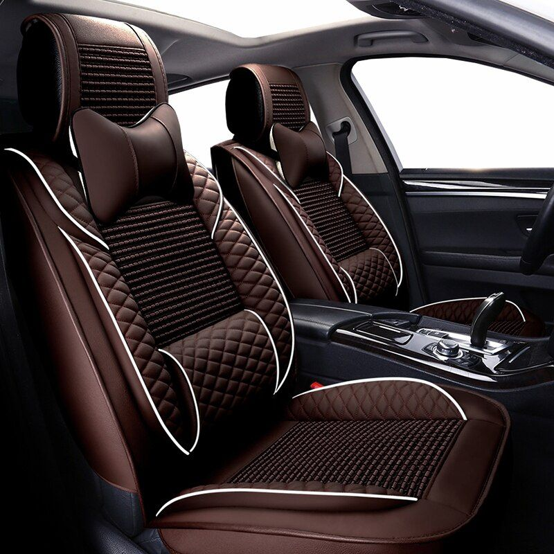 New Luxury leather ice silk universal car seat covers for Buick Hideo Regal Lacrosse Ang Cora Envision GL8 Enclave auto styling