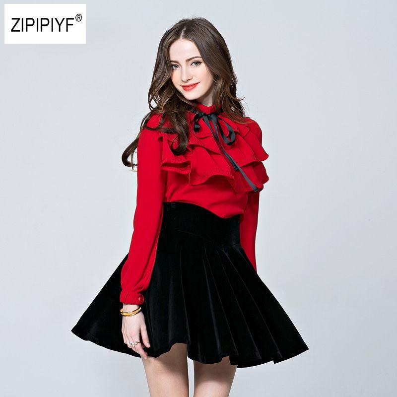 2018 Spring Korea Style New Lantern Sleeve Blouses Women Elegant Lace Up Linen Shirt Tie Ruffles Office Ladies Top B1070
