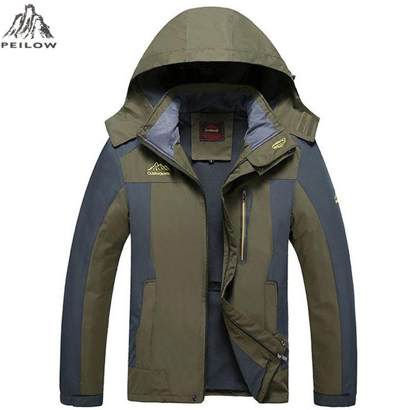 Peilow большой размер 5XL, 6XL, 7XL, 8XL мужской пиджак весна осень Парка мужская брендовая водонепроницаемая ветрозащитная куртка Пальто Верхняя од...