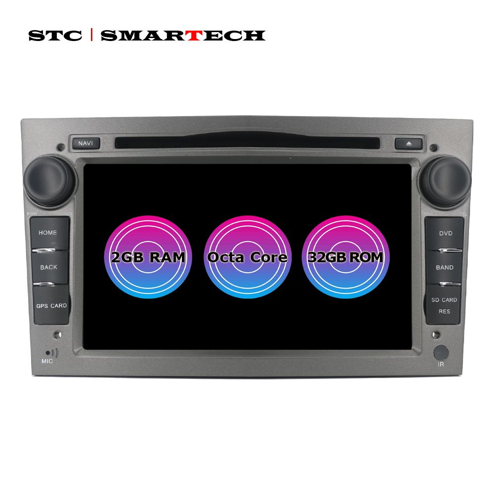 SMARTECH 8 Core 2 Din Android 7.1 Opel Auto Radio DVD GPS Navigation Für Astra H G Antara VECTRA ZAFIRA Vauxhall unterstützung TPMS 3G