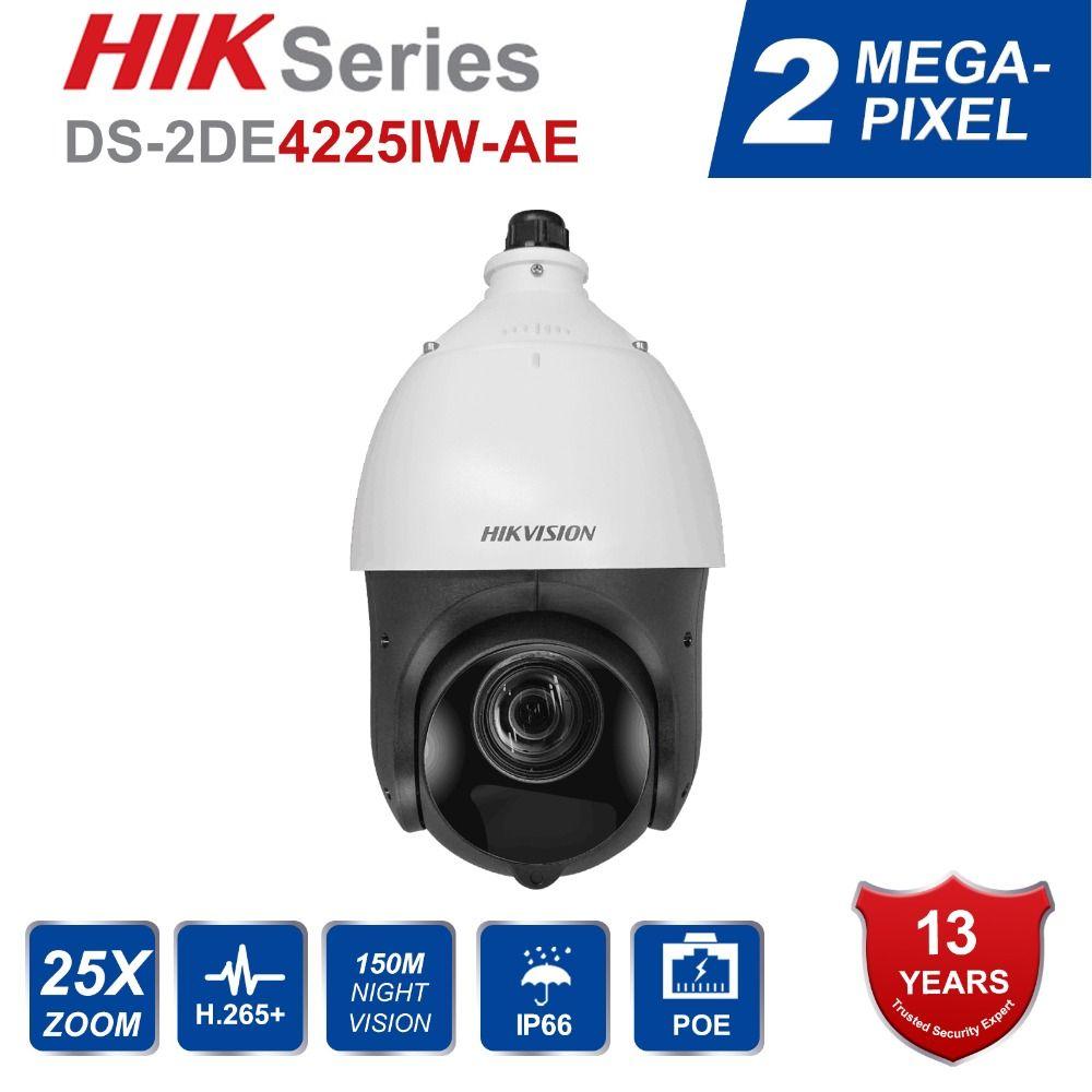 Hik Original Englisch PTZ IP Kamera DS-2DE4225IW-DE 2 Megapixel Motorisierte 25X Zoom Speed Dome CCTV Kamera IR 100 m Objektiv 4,7-94,0mm