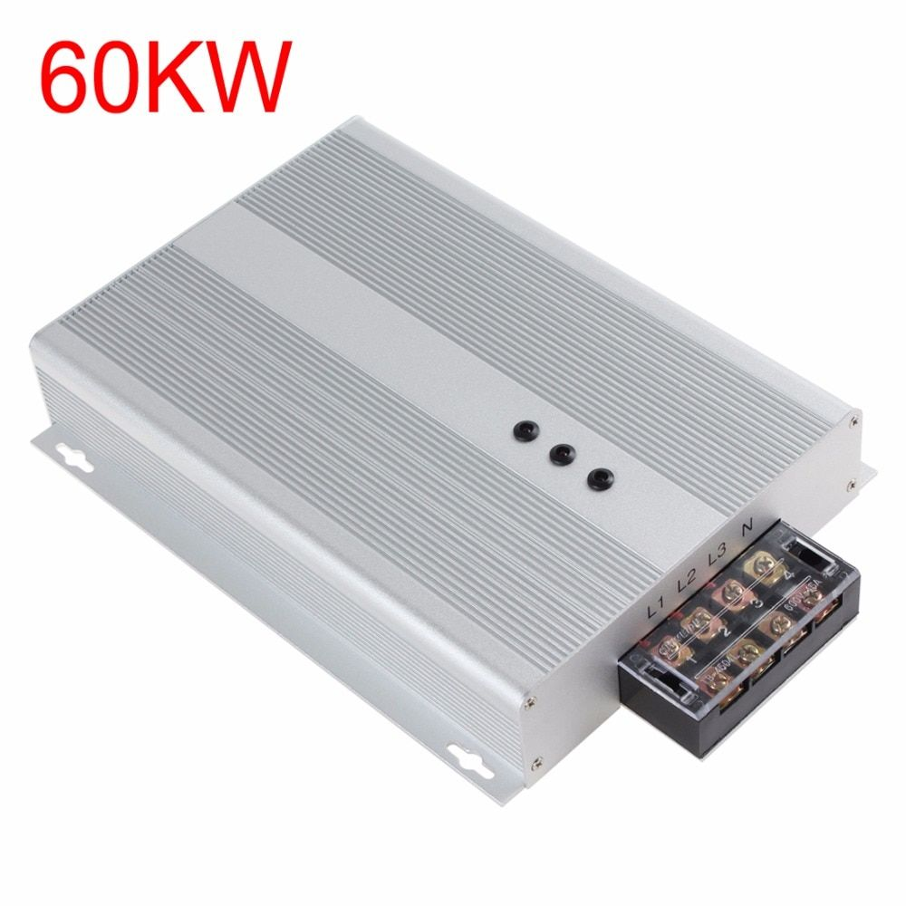 Silver 60KW 90-400V AC Intelliworks Electricity Saving Box Three Phase Industrial Power Saver Box for Shop / House / Restaurant