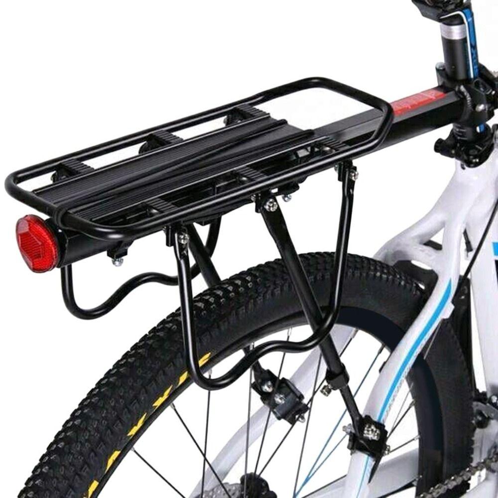 MTB Fahrrad Gepäckträger Sitz Post Mount Pannier Gepäck Träger 25 kg Last Quick-release Bike Hinten Rack mit reflektor