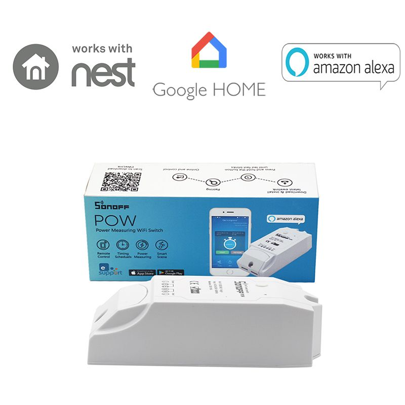 Itead Sonoff Pow Wireless WiFi Switch ON/Off 16A 3500 With Real Time Power Consumption Measurement Home Appliance IOS Android