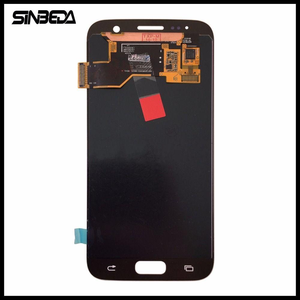 Sinbeda Für Samsung Galaxy S7 G930 G930F Schwarz/Weiß/Gold 5,1 zoll LCD mit Touch Digitizer montage