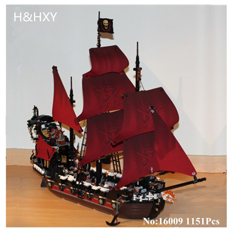 DHL H&HXY Free shipping 16009 1151Pcs Pirates Of The Caribbean Queen Anne's Reveage LEPIN Model Building Kits Blocks Brick Toys