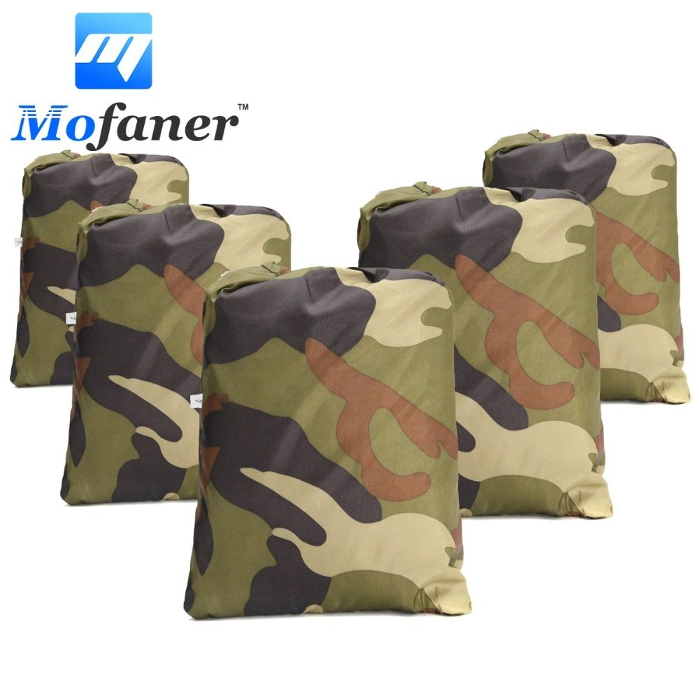 Mofaner Universal 190T Camouflage Waterproof Motorcycle Cover Quad ATV Vehicle Scooter Motorbike Covers M L XL XXL XXXL