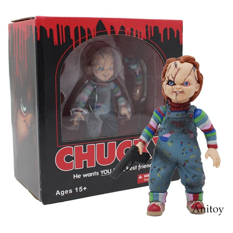 Child's Play Bride of Chucky 1/10 <font><b>Scale</b></font> Horror Doll Chucky PVC Action Figure Toy 12cm