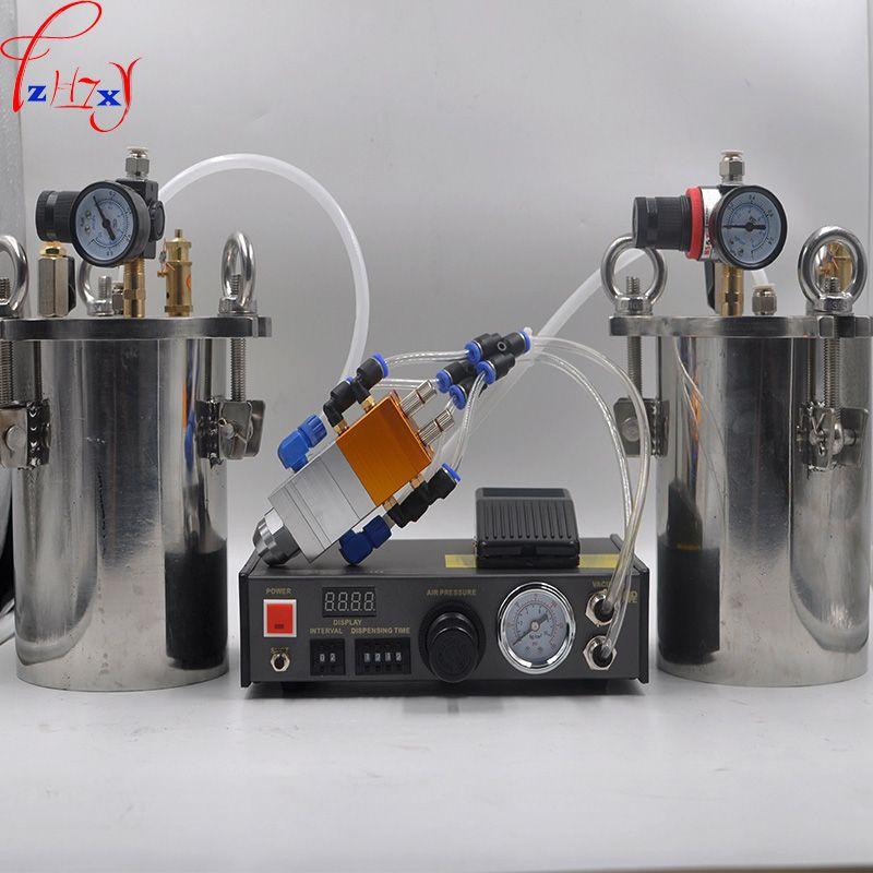 MY-2000 Doppel flüssigkeitsspender AB automatische füllmaschine 5L edelstahl druck barrel kohlenstoffstahl druck barrel